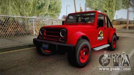 GTA 5 Canis Mesa Jurassic Park for GTA San Andreas