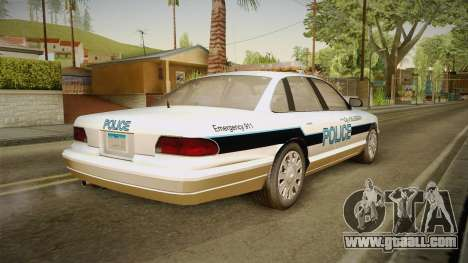 Brute Stainer Blueberry Police 1994 for GTA San Andreas left view