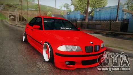 BMW 3 Series E46 Sedan for GTA San Andreas