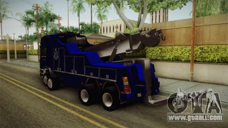 MAN F2000 Tow Truck PDRM for GTA San Andreas left view