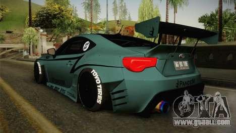 Subaru BRZ Pandem Rocket Bunny v3 for GTA San Andreas right view