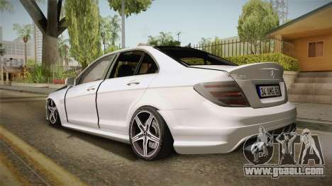 Mercedes-Benz C63 AMG 2012 for GTA San Andreas left view