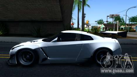Nissan GT-R R35 Rocket Bunny v2 for GTA San Andreas left view