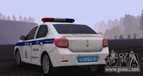 Renault Logan ABOUT traffic police for GTA San Andreas back left view