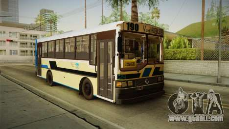 Bus Carrocerias for GTA San Andreas back left view