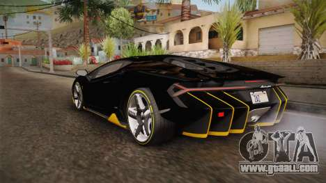 Lamborghini Centenario LP770-4 2017 Carbon PJ for GTA San Andreas back left view