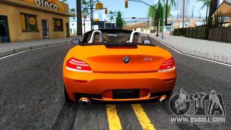 BMW Z4 sDrive35is for GTA San Andreas back left view