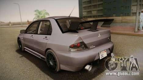Mitsubishi Lancer GSR Evolution VIII 2003 for GTA San Andreas interior