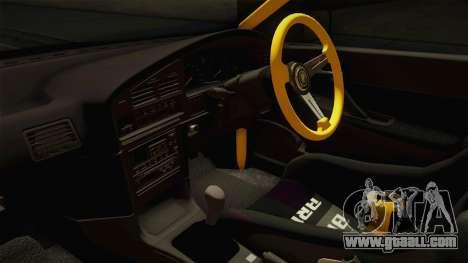 Subaru Legacy RS Drift for GTA San Andreas inner view