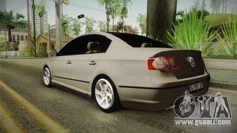 Volkswagen Passat B6 for GTA San Andreas left view