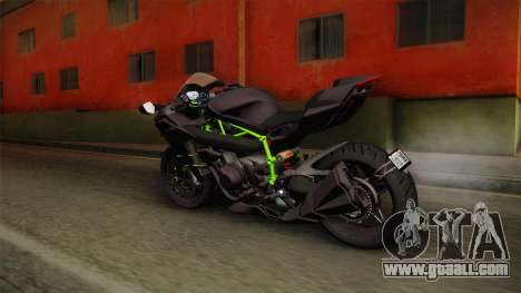 Kawasaki H2 2015 x Z1000 x Diavel for GTA San Andreas left view