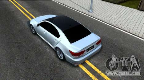 Lexus LS XF40 for GTA San Andreas back view