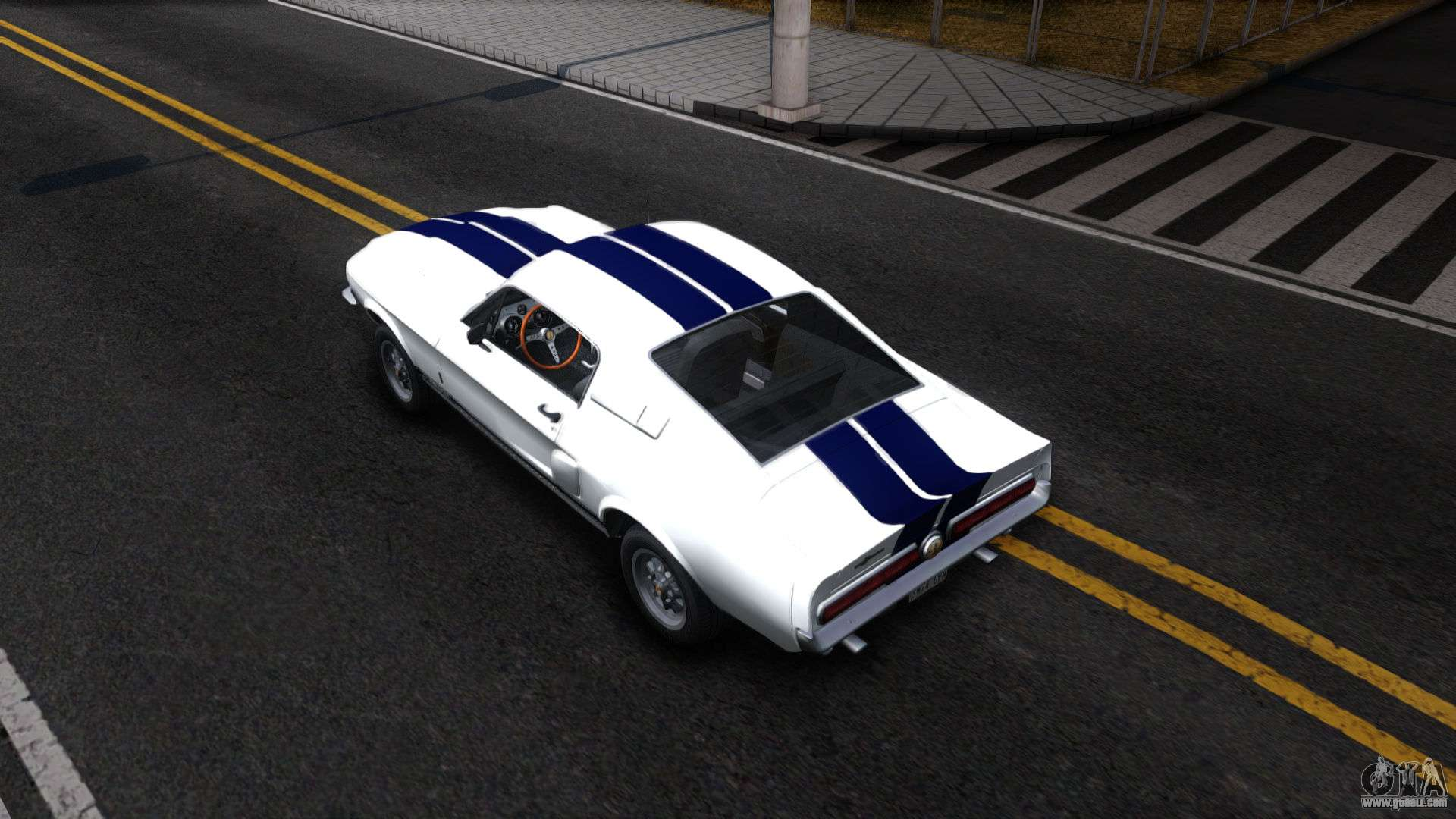 Ford mustang shelby gt500 for gta san andreas back view