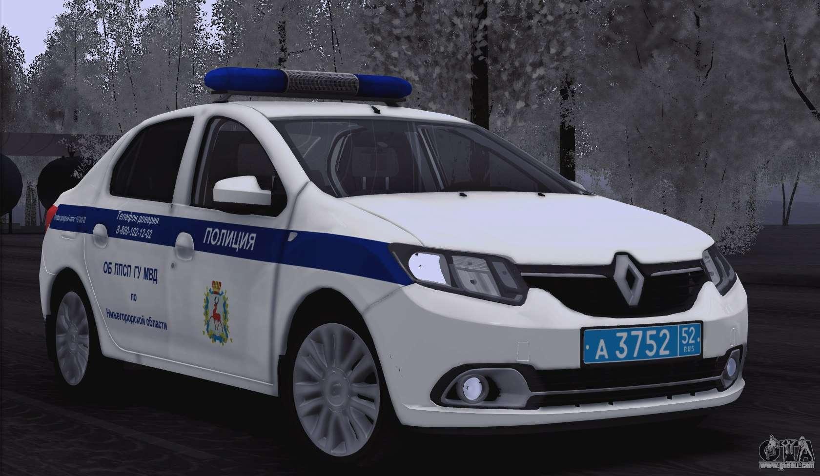 Renault Logan 2016 For Gta San Andreas Interior Moi