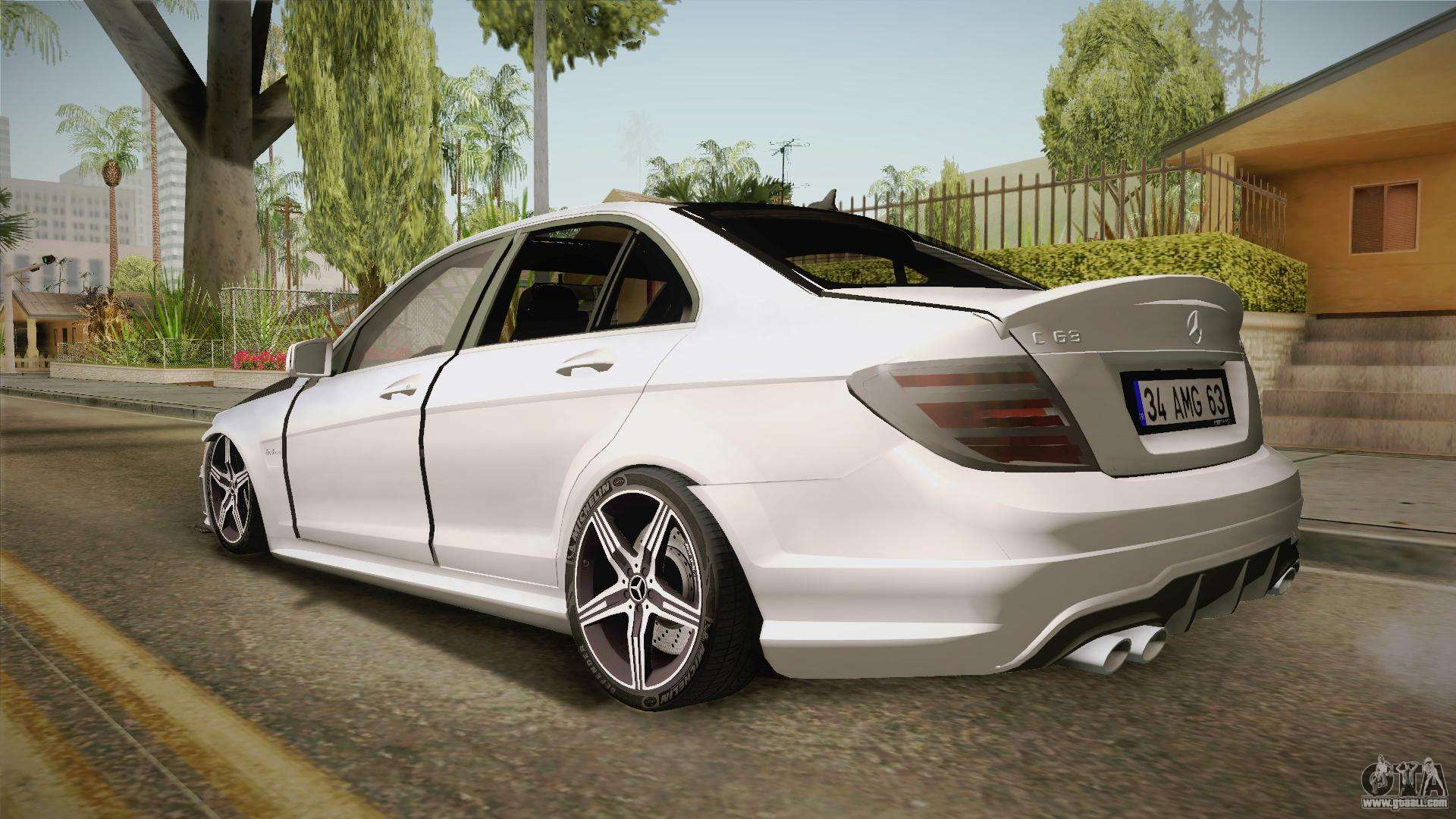 mercedes benz c63 amg 2012 for gta san andreas. Black Bedroom Furniture Sets. Home Design Ideas
