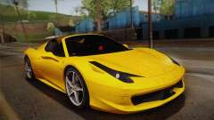 Ferrari 458 Spider FBI for GTA San Andreas