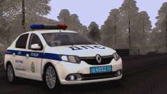 Renault Logan ABOUT traffic police