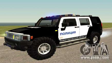 Hummer H2 Police V1 for GTA San Andreas
