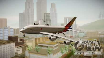 Airbus A380 Asiana Airline for GTA San Andreas
