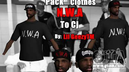Pack Clothes N.W.A To Cj HD for GTA San Andreas