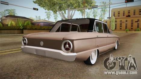 Ford Falcon 1963 for GTA San Andreas back left view