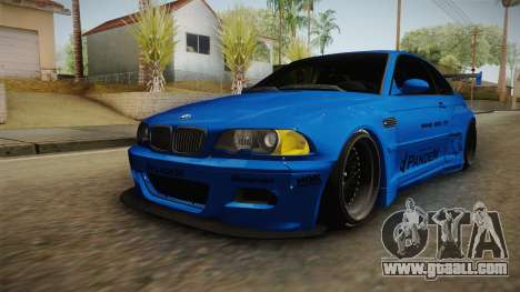 BMW M3 E46 Liberty Walk Pandem Livery for GTA San Andreas back left view