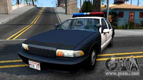 Chevrolet Caprice Police for GTA San Andreas