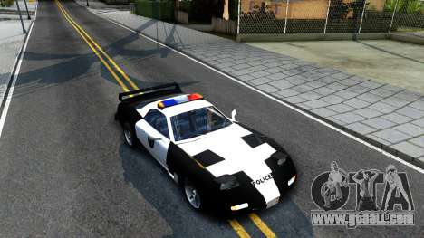 ZR-350 SFPD Police Pursuit Car for GTA San Andreas right view