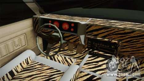 New Buccaneer for GTA San Andreas inner view