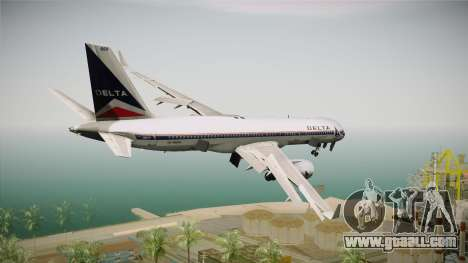 Boeing 757-200 Delta Air Lines (Widget) for GTA San Andreas right view