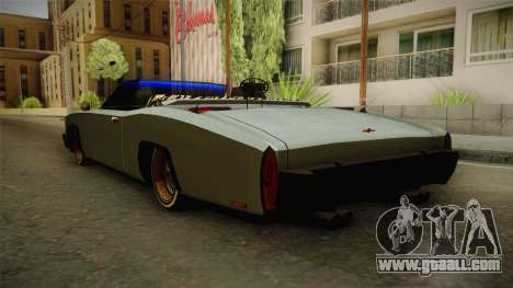 New Buccaneer for GTA San Andreas back left view