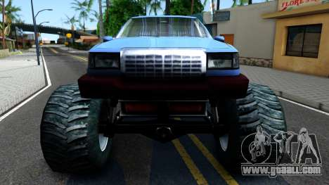 Stretch Monster Truck for GTA San Andreas inner view
