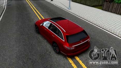 Mercedes-Benz C-Class Estate 2015 for GTA San Andreas back view