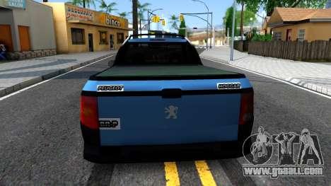 Peugeot Hoggar for GTA San Andreas back left view