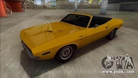 Dodge Challenger Cabrio for GTA San Andreas