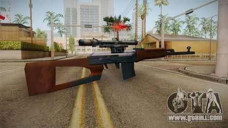Dragunov Low Poly SA Style for GTA San Andreas second screenshot