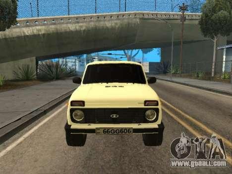 Vaz 2121 Niva Armenian for GTA San Andreas back view