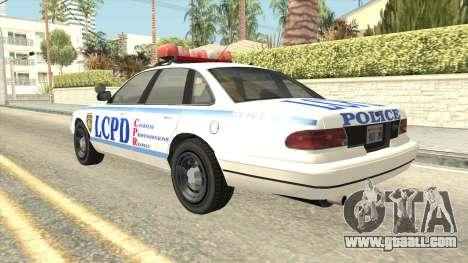 GTA 4 Police Stanier SA Style for GTA San Andreas left view
