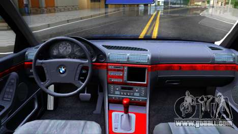 BMW 750iL E38 2001 for GTA San Andreas inner view