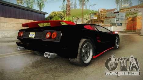 GTA 5 Pegassi Infernus Classic IVF for GTA San Andreas left view