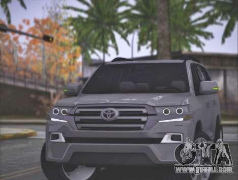 Toyota Land Cruiser 200 Sport Design for GTA San Andreas back left view