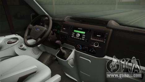 Ford Transit Police for GTA San Andreas inner view