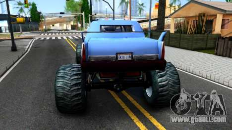 Stretch Monster Truck for GTA San Andreas back left view