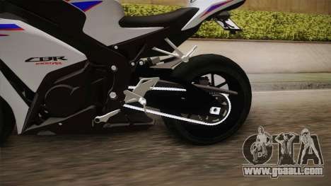 Honda CBR1000RR HRC 2012 for GTA San Andreas inner view