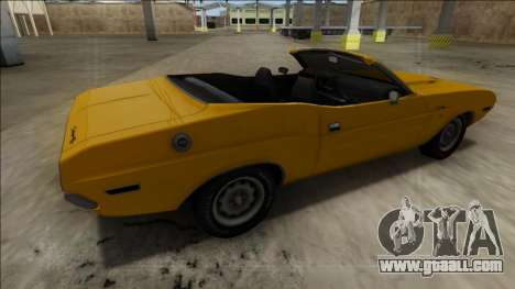 Dodge Challenger Cabrio for GTA San Andreas left view