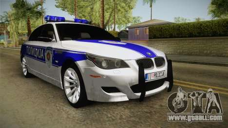 BMW M5 a e60 Police for GTA San Andreas right view