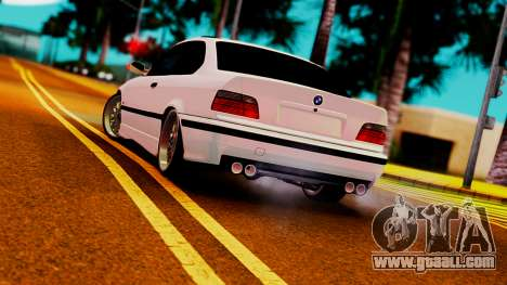 BMW M3 E36 ZLO for GTA San Andreas back left view