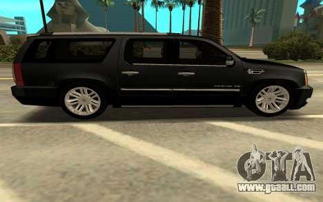 Cadillac Escalade Platinum for GTA San Andreas left view
