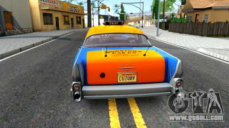 GTA V Declasse Cabbie for GTA San Andreas back left view