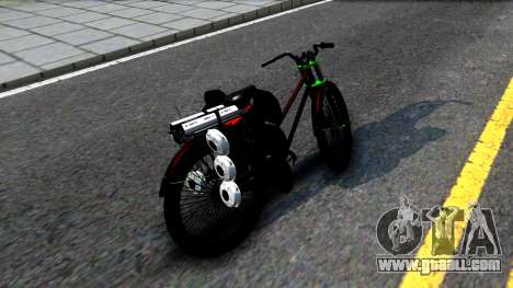 Bici for GTA San Andreas back left view